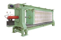 Production of precision filter press for sake or rice wine started