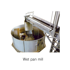 Wet pan mill