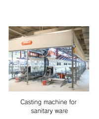 Casting machine for sanitary ware
