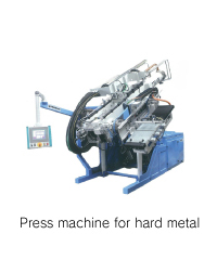 Press machine for hard metal