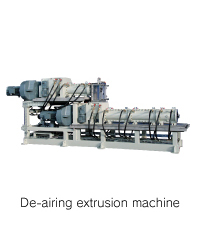 De-airing extrusion machine