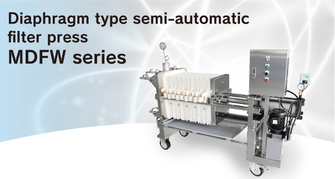 Diaphragm type semi-automatic filter press MDFW series